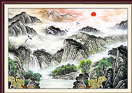 山水畫圖片