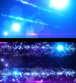 藍色光效粒子視頻