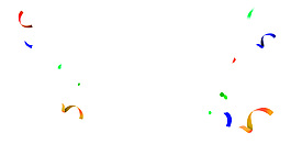 彩带漂浮元素