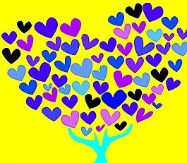 愛心樹圖片
