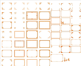 欧式中式边框矢量图图片
