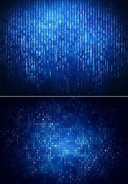 2张蓝色数字科技背景高清图片