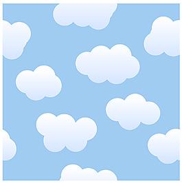 無縫拼接矢量云朵