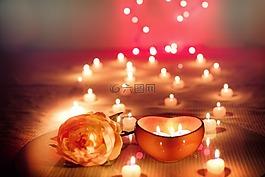 蠟燭,情人節,情人節那天
