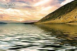 山,湖,景觀