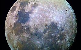 月亮,表面,空間