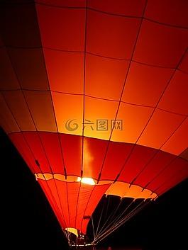 气球,热气球,发光气球