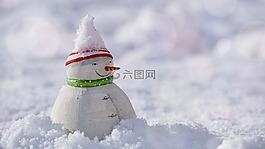 雪人,雪,冬天
