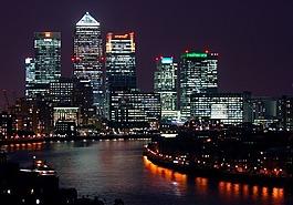 城市,建設,夜景