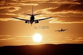飞机,着陆,到达