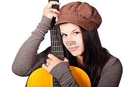 木吉他,可爱,女性