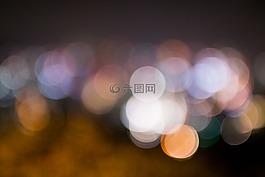 景,夜景,圓
