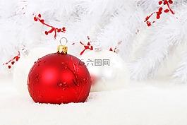 圣诞摆设,红色,球