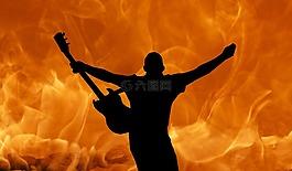 吉他,石,金属