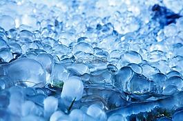 抽象,蓝色,冷
