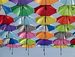 伞,颜色,红色