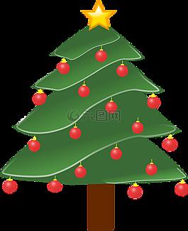 圣诞树,植物,装饰