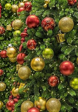 圣诞节,树,装饰