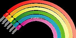 彩虹,顏色,電子