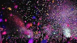 音乐会,五彩纸屑,庆典
