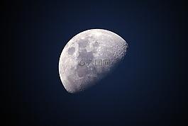 月亮,藍色,天空