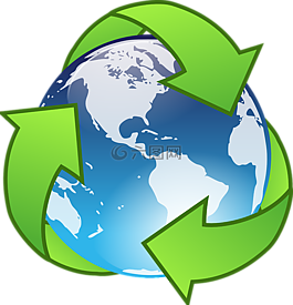 回收,绿色,地球