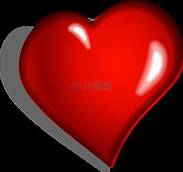 心,紅色,情感