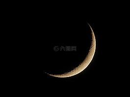 月亮,新月,夜