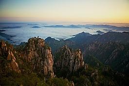 黄山,中国,黄色