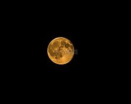 橘黃色的月亮,滿月,全橙色的月亮