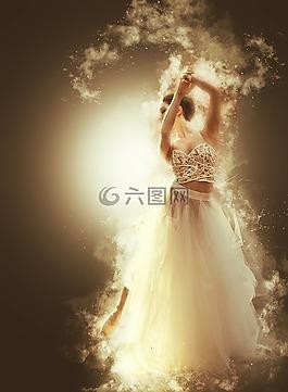 新娘,舞蹈,白