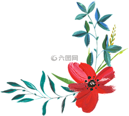 手绘,水彩,花