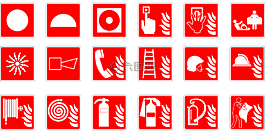 符號,緊急,火