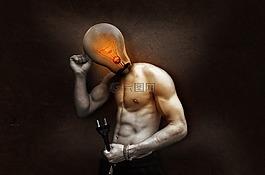 灯泡,当前,光
