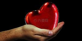 心臟,手,心放棄