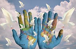世界,和諧,大洲