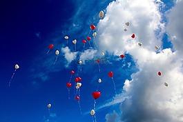 氣球,心,愛情