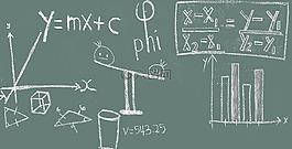 數學,黑板,教育