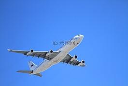 飞机,起飞,天空