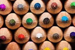 彩色的铅笔,彩虹,彩色铅笔
