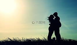 愛情,吻,夫婦