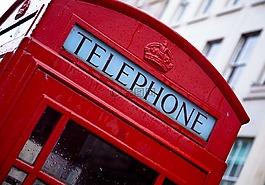 电话,伦敦,红色