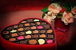 情人節那天,巧克力,糖果