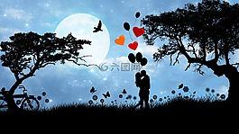 爱,夫妇,浪漫