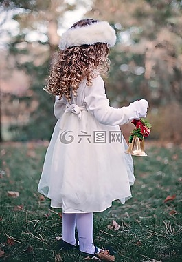女孩,兒童,冬天