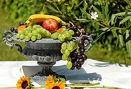 水果碗,壳,水果