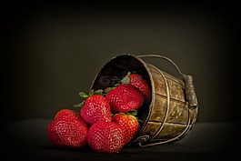 水果,草莓,红色