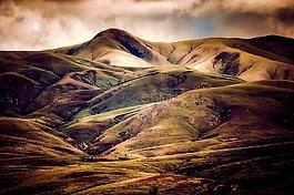 冰島,山,天空