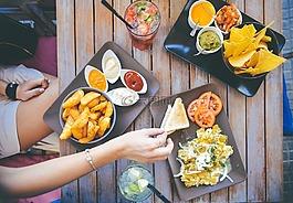 吃,餐廳,食品
