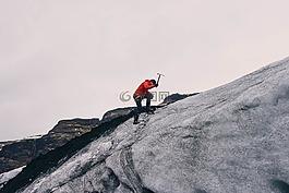登山,山,冒險